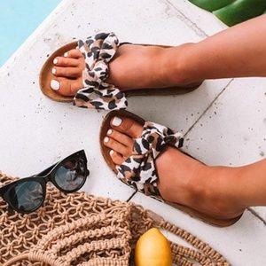 FINAL - YENNIFER leopard Print Bow Sandals